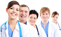 Line of clients and physicians who get their medical malpractice insurance company from Gulf Atlantic Legal Insurance.